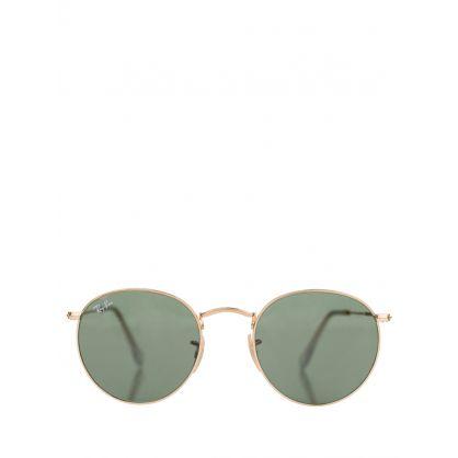 Gold Round Metal Legend Sunglasses