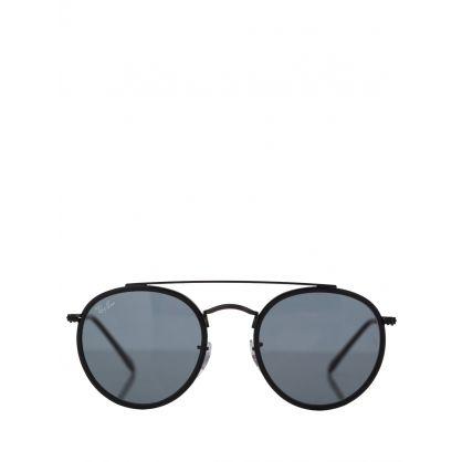 Black Round Double Bridge Legend Sunglasses