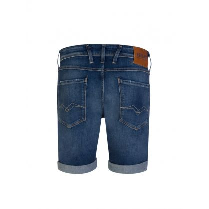 Blue Anbass 573 Bio Stretch Denim Shorts