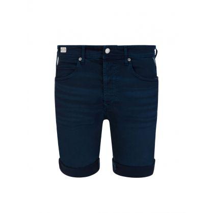 Dark Blue RBJ.901 Denim Bermuda Shorts