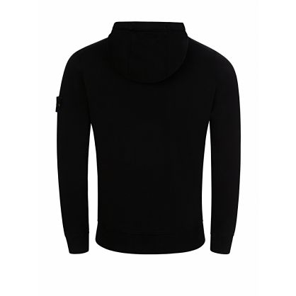 Black Basic Zip-Through Hoodie