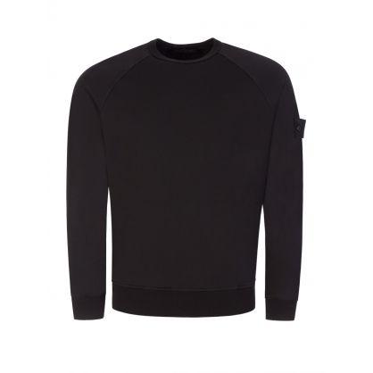 Black Ghost Piece Cotton Blend Sweatshirt