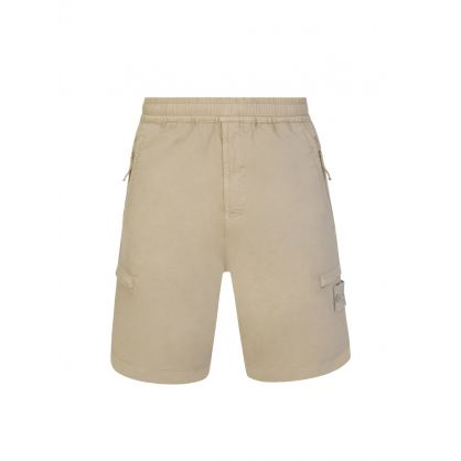 Beige Ghost Piece Bermuda Shorts
