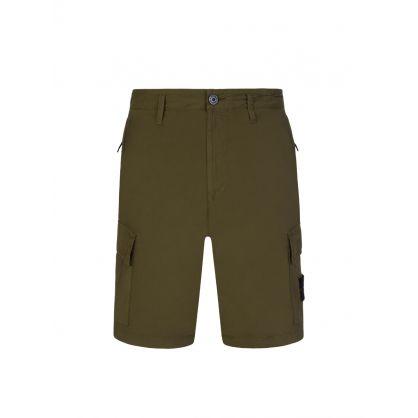 Green Cargo Pocket Shorts
