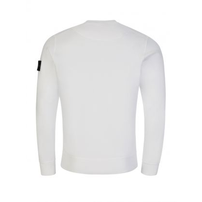 White Garment-Dyed Sweatshirt