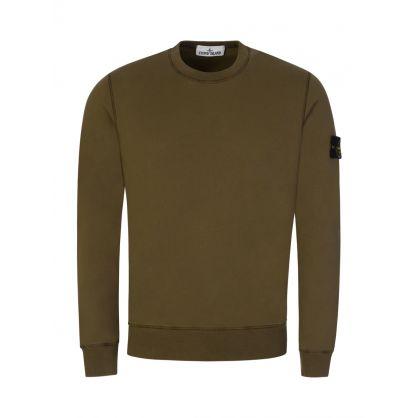 Green Garment Dyed Sweatshirt