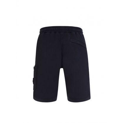 Navy Blue Garment Dyed Shorts