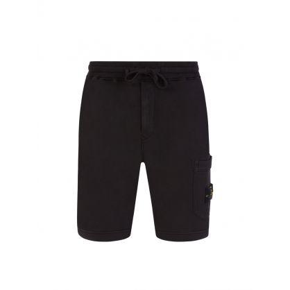 Black Cargo Pocket Sweat Shorts