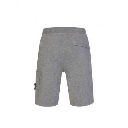 Grey Compass Badge Shorts