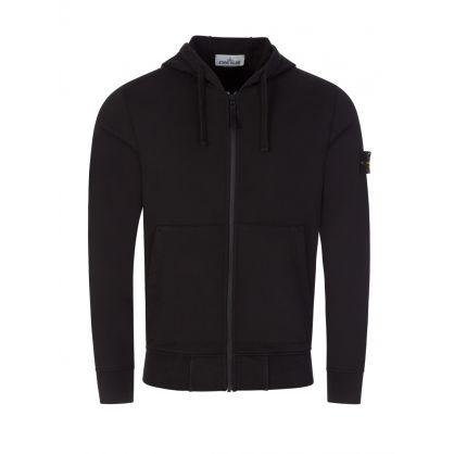 Black Classic Hooded Zip-Through