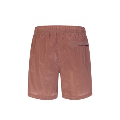 Pink Nylon Metal Logo Swim Shorts