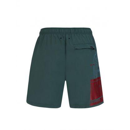 Green Block Swim Shorts