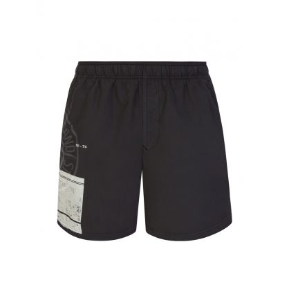 Black Block Swim Shorts