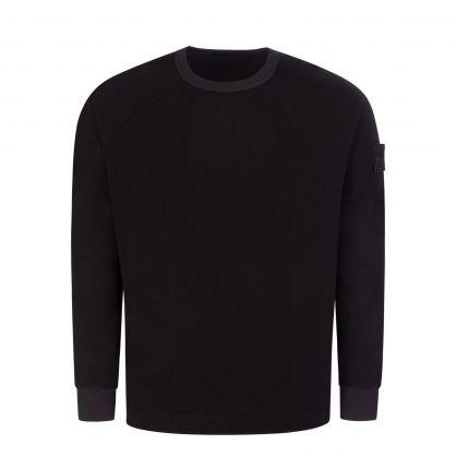 Black Ghost Logo-Appliquéd Chenille Sweatshirt