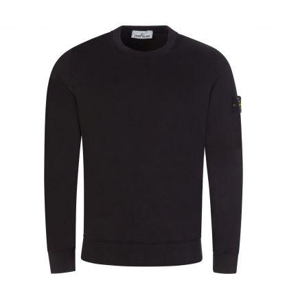 Black Brushed Fleece Sweatshirt