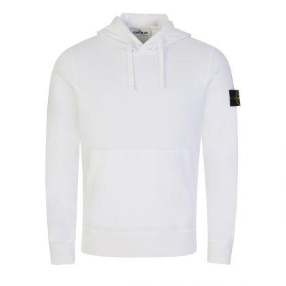 White Brushed Fleece Hoodie