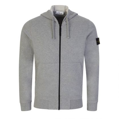 Melange Grey Hooded Zip-Through