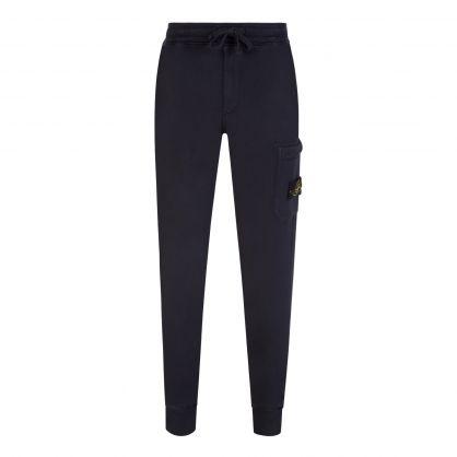 Navy Blue Brushed Fleece Sweatpants