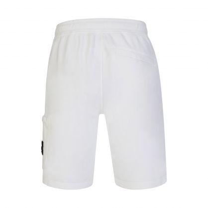 White Leg Pocket Sweat Shorts
