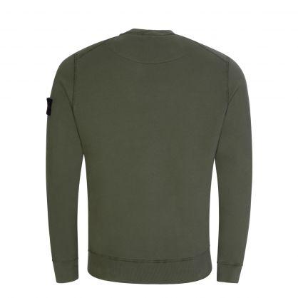 Green Brushed Fleece Sweatshirt