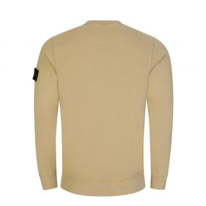 Beige Brushed Fleece Cotton Sweatshirt