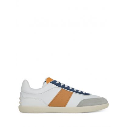 White Leather Panel Trainers
