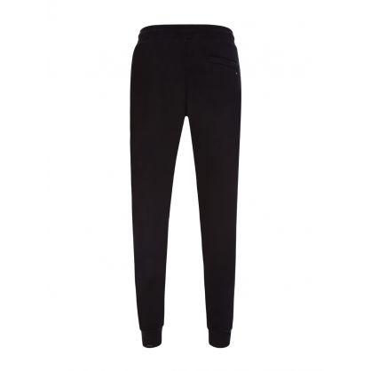 Black Basic Branded Sweatpants