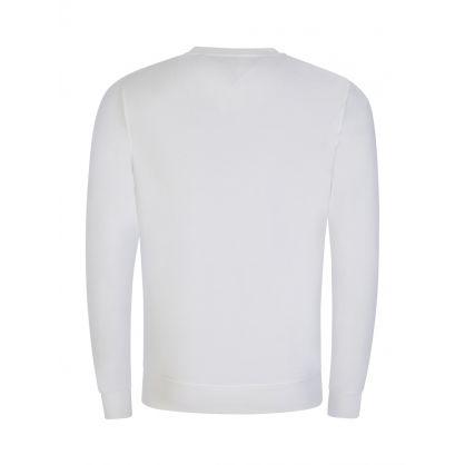 White Tape Logo Sweatshirt