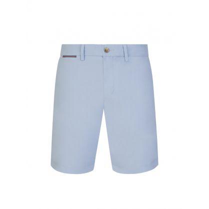 Light Blue Brooklyn Cotton Twill Shorts