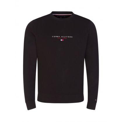 Black Essential Crewneck Sweatshirt