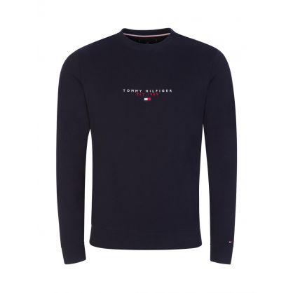 Navy Essential Crewneck Sweatshirt