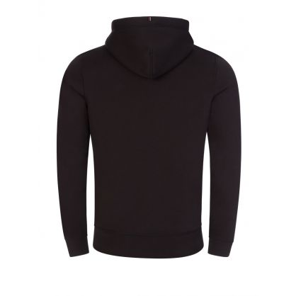 Black Stacked Tommy Flag Popover Hoodie