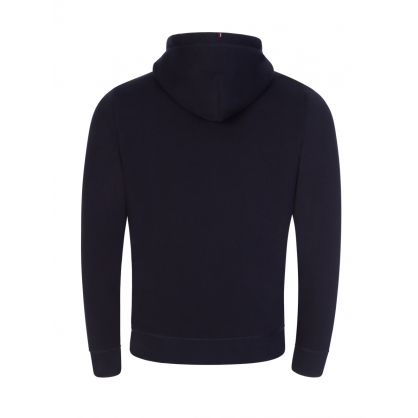 Navy Stacked Tommy Flag Popover Hoodie