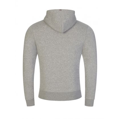 Grey Stacked Tommy Flag Popover Hoodie