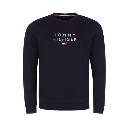 Navy Stacked Tommy Flag Sweatshirt
