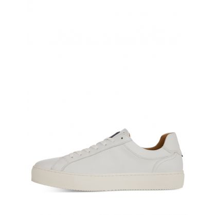 White Premium Cupsole Leather Trainers