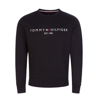 Black Classic Logo Embroidery Sweatshirt