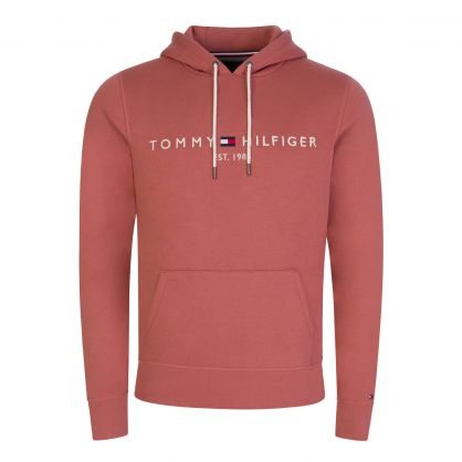 Faded Pink Logo Popover Hoodie