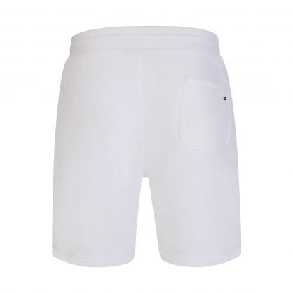 White Essential Tommy Sweat Shorts