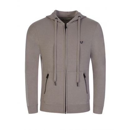 Grey Zip-Through Hoodie