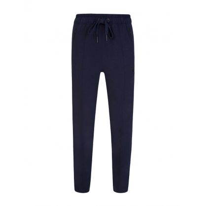 Navy Tapered Horseshoe Sweatpants
