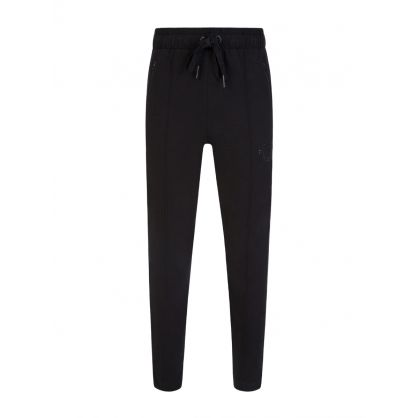 Black Tapered Rhinestone Horseshoe Sweatpants