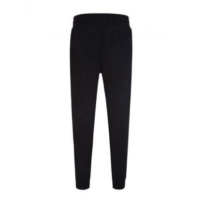 Black Slim-Fit Foil Logo Sweatpants