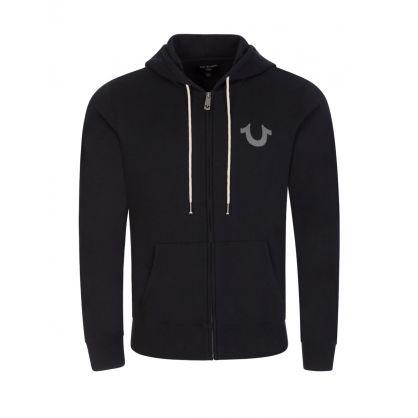 Black Core Hooded Zip-Through