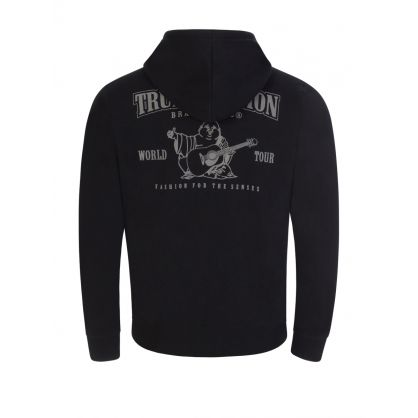 Black Core Zip-Through Hoodie
