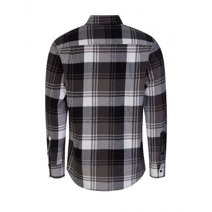 Grey Plaid Flannel Shirt