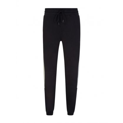 Black Colour Block Track Sweatpants