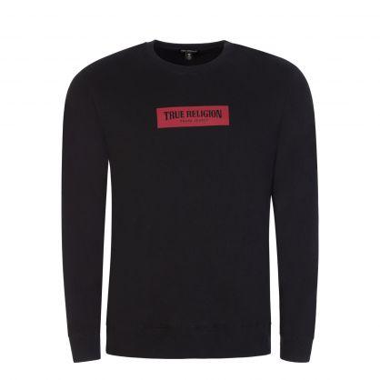 Black Crewneck Logo Sweatshirt