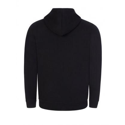 Onyx Black Logo Hooded Zip-Through