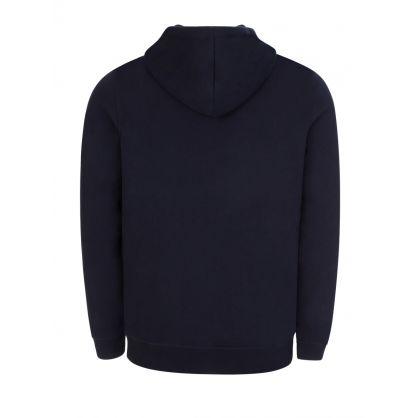 Navy Zip-Through Logo Hoodie